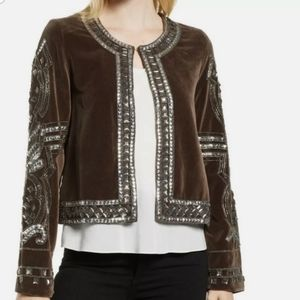 Velvet by Graham & Spencer Embellished Jacket NWT